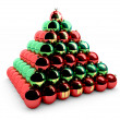 Stock Photo: Christmas balls pyramid