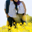 Beautiful couple in a meadow — Stock Photo #7741936