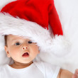 Christmas baby isolated - Stock Photo
