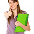 Stock Photo: Student with thumbs up