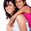 Happy mom and daughter — Stock Photo