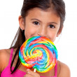 Girl with a candy — Stock Photo