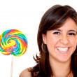 Woman with candy — Stock Photo #7741995