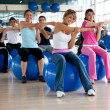 Pilates class in a gym — Stock Photo #7742010