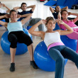 Royalty-Free Stock Photo: Pilates class in a gym
