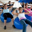 Stock Photo: Pilates class in a gym