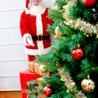 Santa Claus indoors — Stock Photo