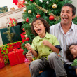 Christmas family portrait — Stock Photo #7742053