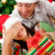 Christmas surprised — Stock Photo