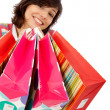 Shopping woman isolated — Stock Photo #7742090