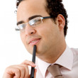 Pensive business man — Stock Photo #7742164