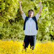 Excited man outdoors — Stock Photo #7742174