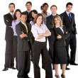Stock Photo: Business group isolated