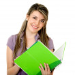 student met een notebook — Stockfoto #7742178