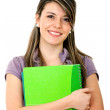 Student with a notebook — Stockfoto