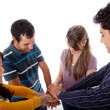 Royalty-Free Stock Photo: Friends with hands together