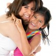Mother and daughter having fun - 