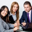 Stock Photo: Young executives working
