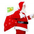 Santa with a gift's bag - Stock Photo