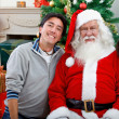 Royalty-Free Stock Photo: Couple with Santa