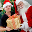 Man with Santa Claus — Stockfoto