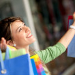 Happy shopping woman — Stockfoto