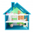Stock Photo: Piggybank house
