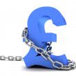 Pound symbol in chains — Stockfoto