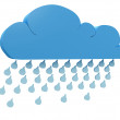 Rainy cloud - Stock Photo