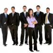 图库照片: Business women in males group