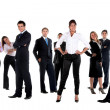 Stock Photo: Fullbody business group
