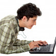 Man with a laptop — Stock Photo #7742497