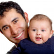 Happy man with a baby — Stock Photo