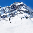 Snowcapped mountain - Stock Photo