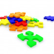 Colorful puzzle isolated — Stock Photo