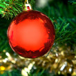 Ball on a Christmas tree — Stock Photo #7742610