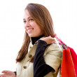 Stock Photo: Shopping womsmiling