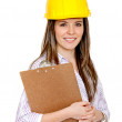 Female engineering with helmet — Stock Photo #7742741