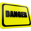 Danger sign 3d - Stock Photo