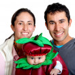 Couple with a baby — Stock Photo