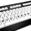 Keyboard with business word — Stok fotoğraf