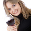 Woman with a wine - Stock Photo