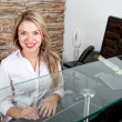 Stock Photo: Business receptionist