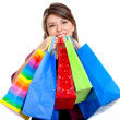 Stock Photo: Womwith shopping bags