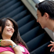 Couple at a shopping center - Stockfoto