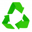 Green recycling sign - Stok fotoraf