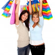 Happy shopping women — Stockfoto