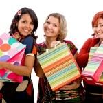 Happy shopping women — Stock Photo