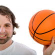 Stock Photo: Man with a basketball