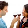 Stock Photo: Loving couple with wineglasses